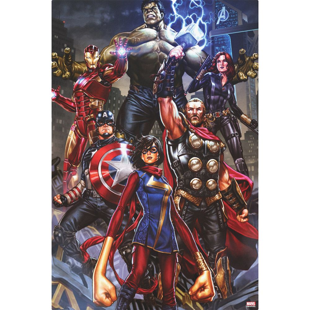 Avengers Group Assembled In City Canvas Print – Customized