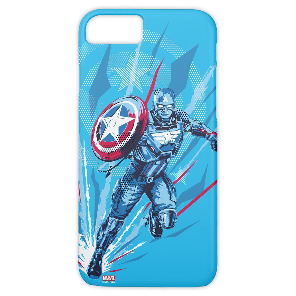 Patriotic Captain America Stencil Illustration Case-Mate iPhone 8/7 Case – Customized