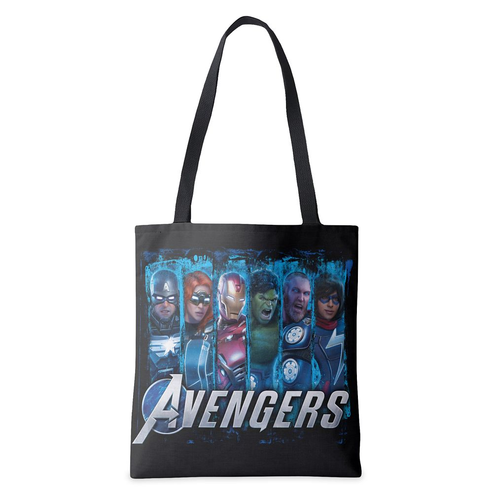 Avengers Lineup Over Logo Tote Bag – Customized