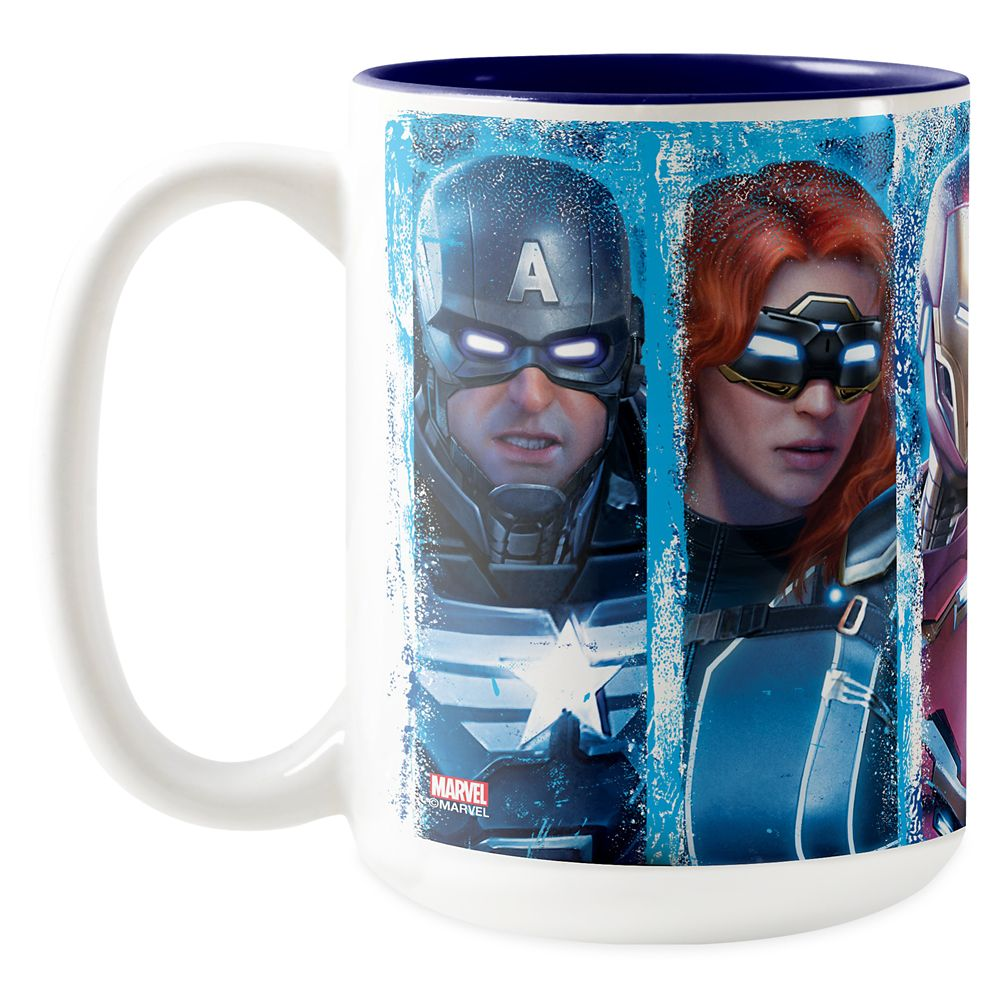 Avengers Lineup Over Logo Two-Tone Coffee Mug – Customized
