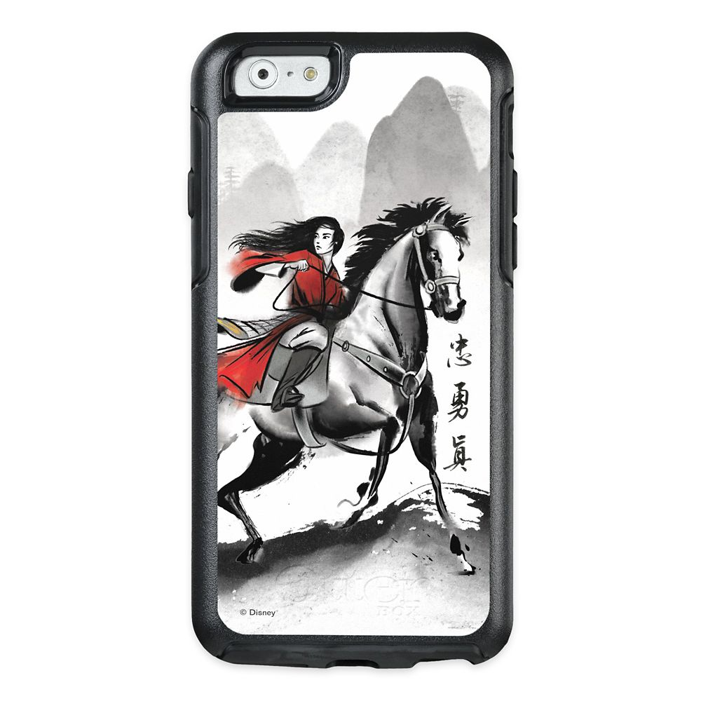 Mulan Riding Black Wind Watercolor OtterBox iPhone XS Case – Live Action Film – Customized