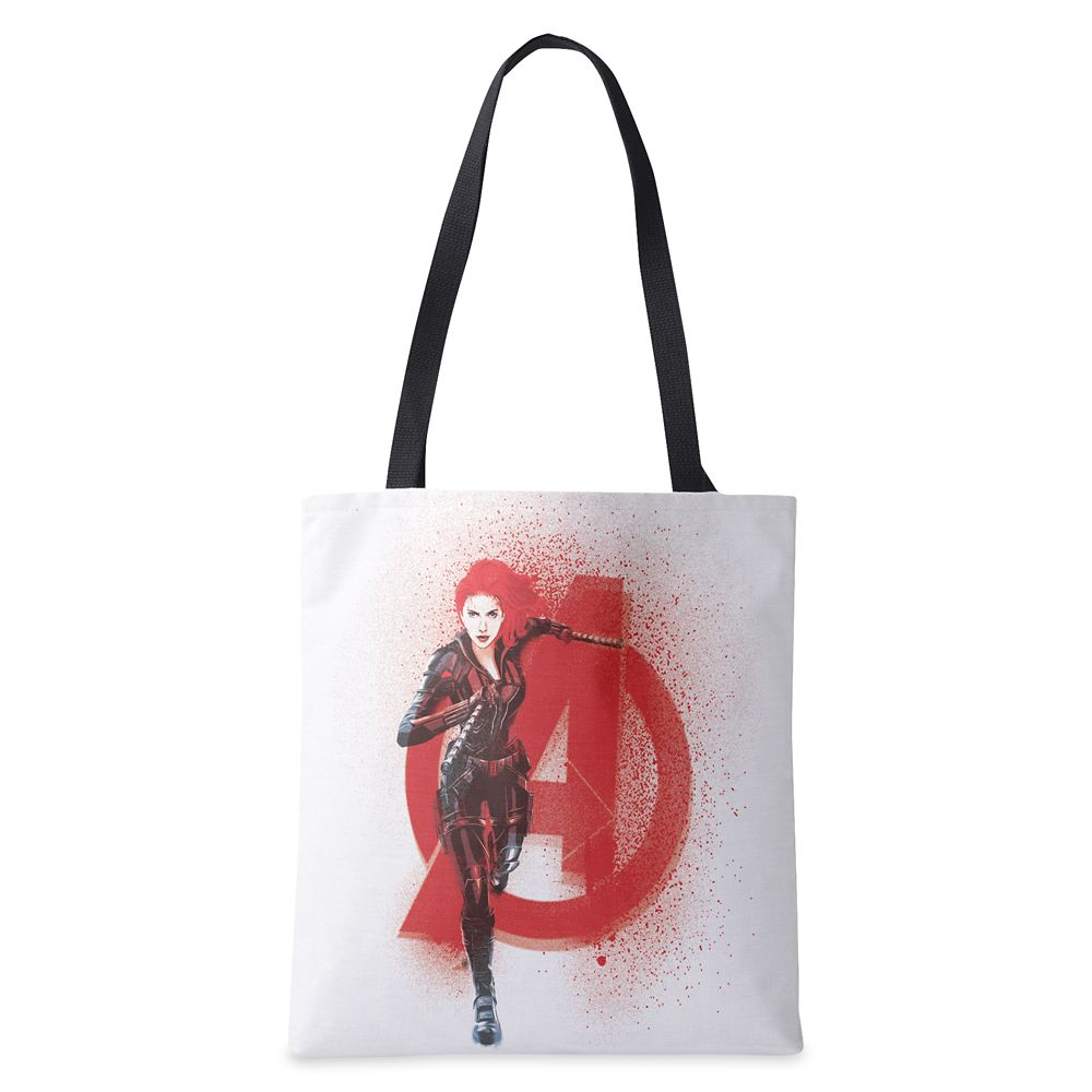 Black Widow Avenger Spray Paint Tote Bag – Customized