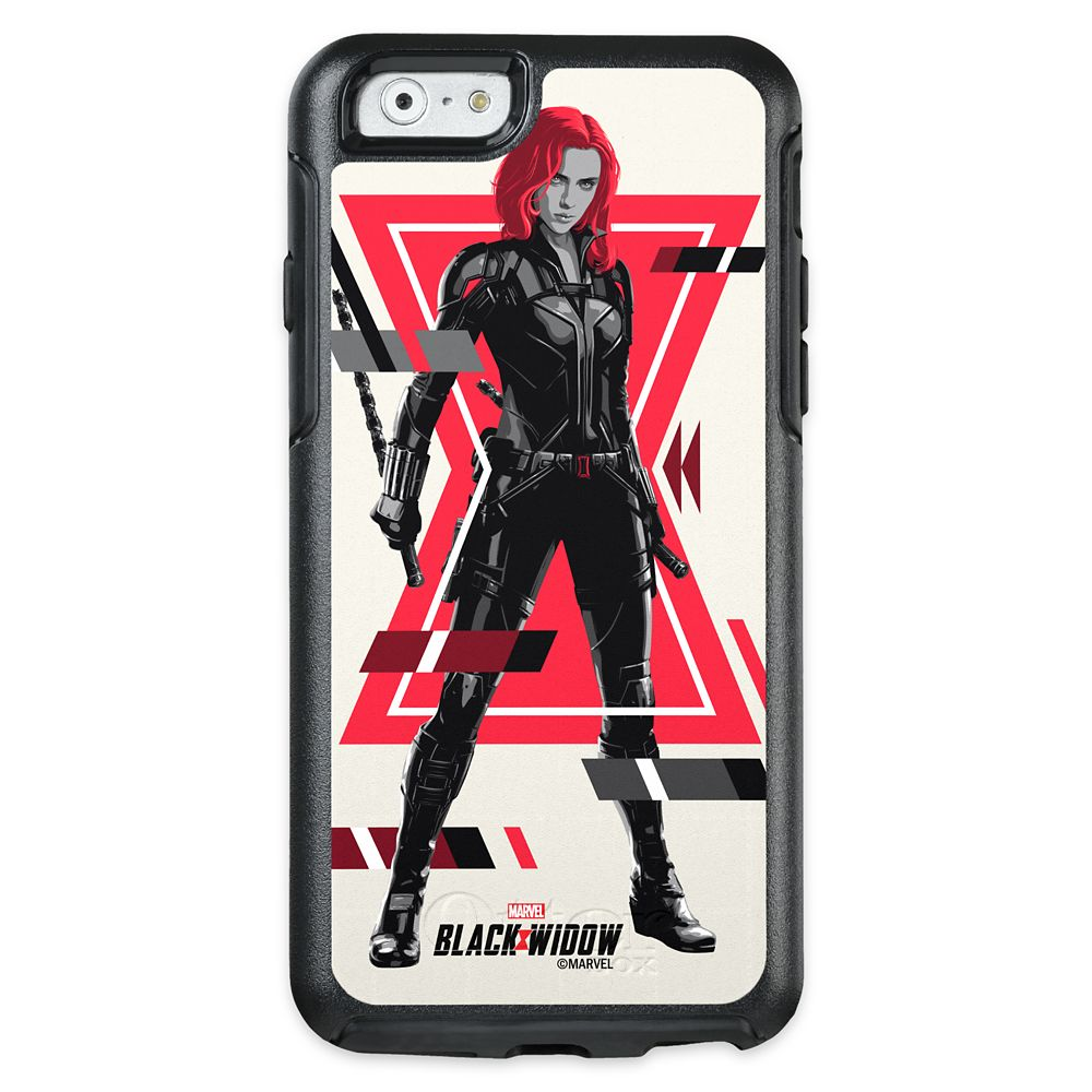 Black Widow Glitched Character Portrait OtterBox iPhone Case