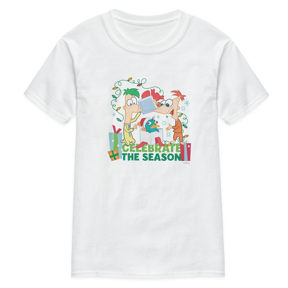 Phineas and Ferb Celebrate the Season T-Shirt for Adults – Customized