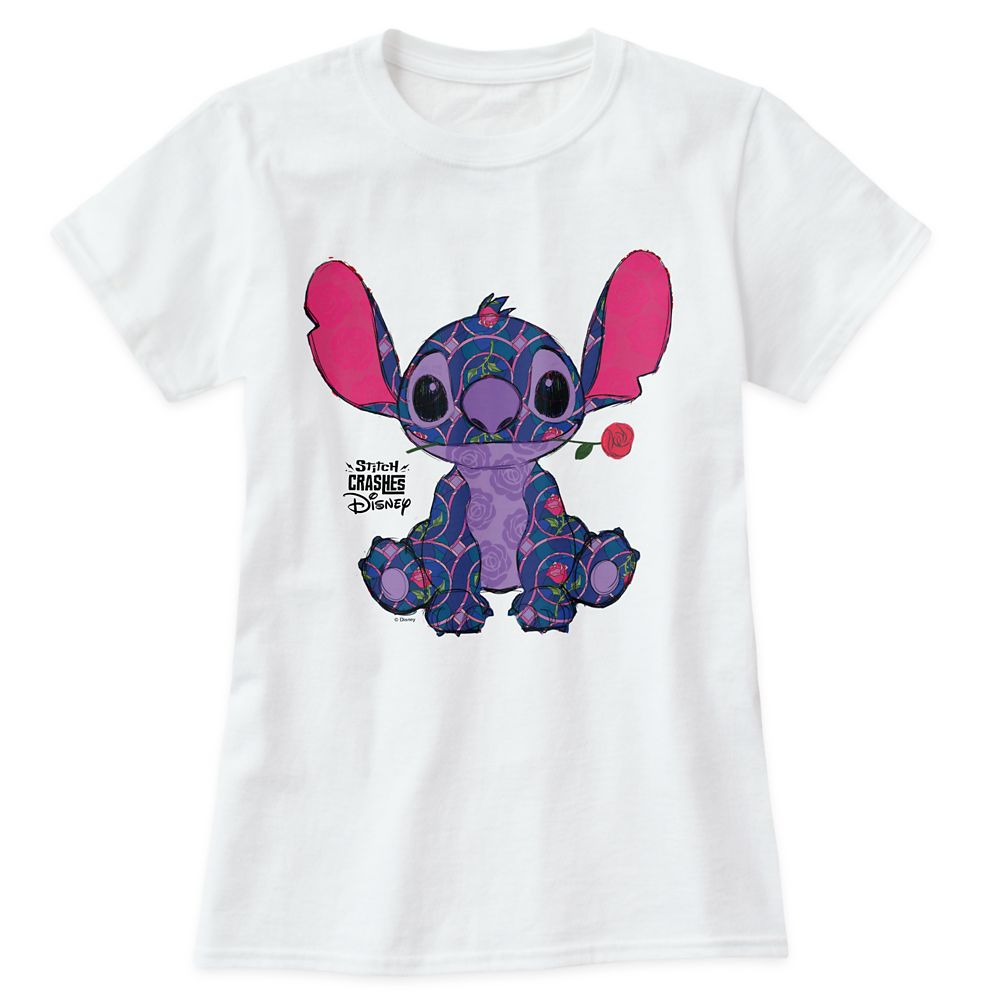 Stitch Crashes Disney T-Shirt for Adults  Beauty and the Beast  Customized
