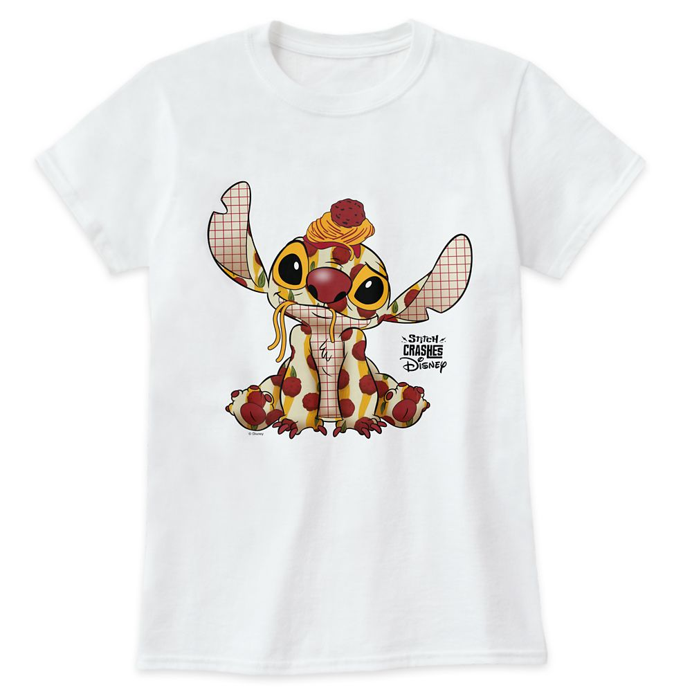 Stitch Crashes Disney T-Shirt for Adults – Lady and the Tramp – Customized