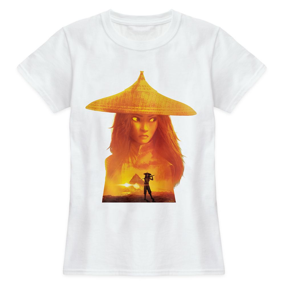 Raya Sunset Silhouette T-Shirt for Women – Disney Raya and the Last Dragon – Customized