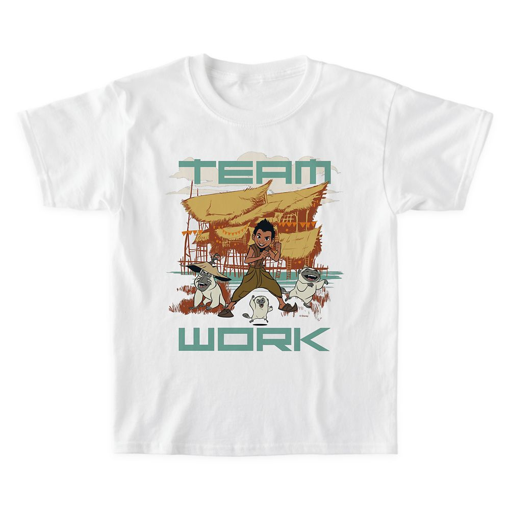 Boun and Ongis ''Team Work'' T-Shirt for Boys – Disney Raya and the Last Dragon – Customized