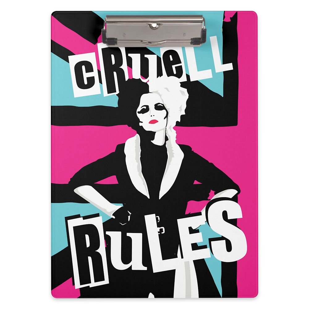 Cruella ''Cruell Rules'' Clipboard – Customized