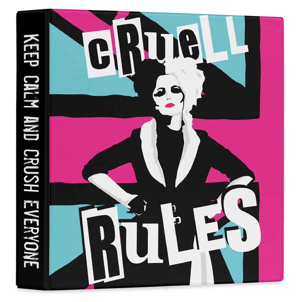 Cruella ''Cruell Rules'' Three Ring Binder – Customized