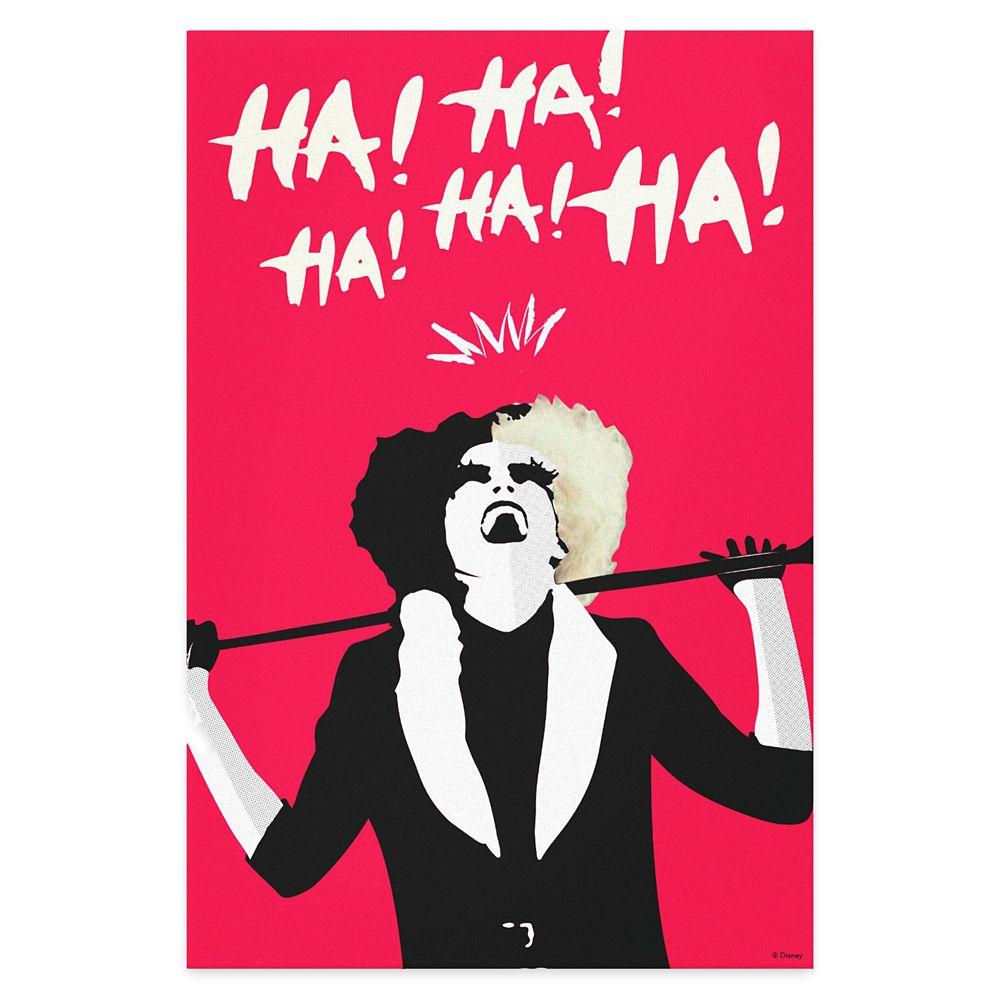 Cruella Signature Laugh Canvas Print – Customized
