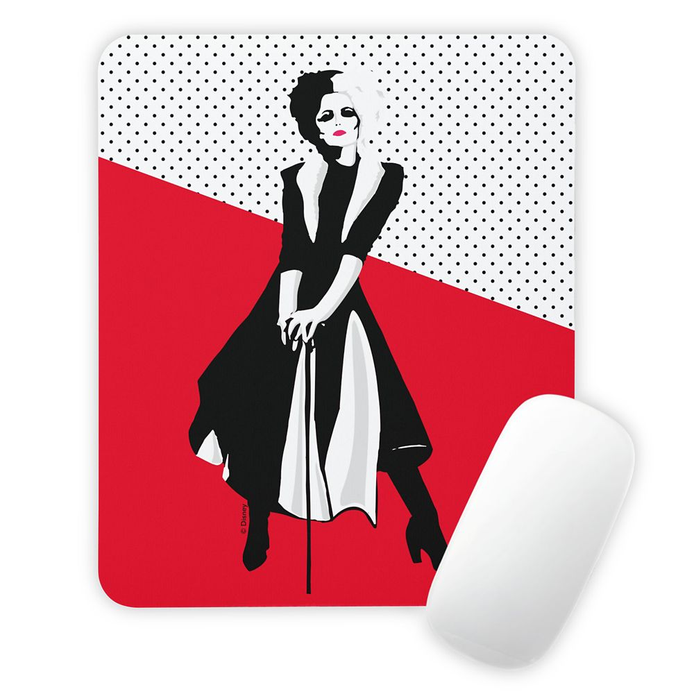 Cruella: Stylized Cruella Standing With Cane Mouse Pad – Customized
