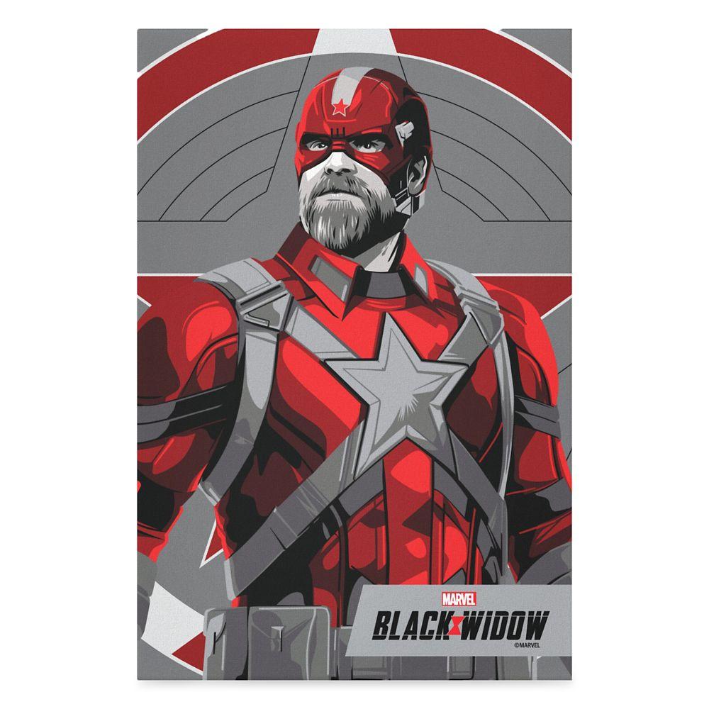 Red Guardian Illustration Canvas Print – Black Widow – Customized