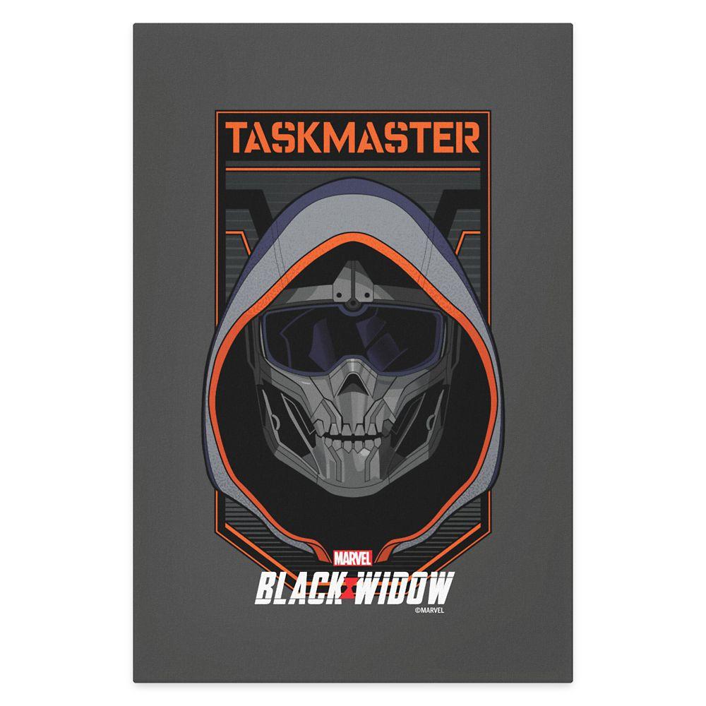 Taskmaster Skull Badge Canvas Print – Black Widow – Customized