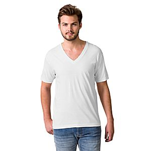 Fine Jersey V-Neck Tee by American Apparel for Men – Personalizable