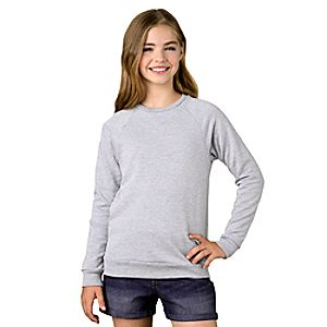 Raglan Sleeve Sweatshirt for Girls – Customizable