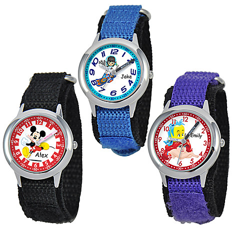 Time Teacher Watch with Nylon Strap for Kids - Small Dial - Customizable
