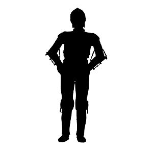 3PO – 3D Printed Plastic Figure with Base – Small – 3 1/2""