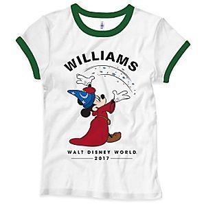 Sorcerer Mickey Mouse 2017 Walt Disney World Ringer Tee for Women - Customizable