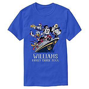 Mickey Mouse and Friends Ship T-Shirt for Adults - Customizable - Disney Cruise Line