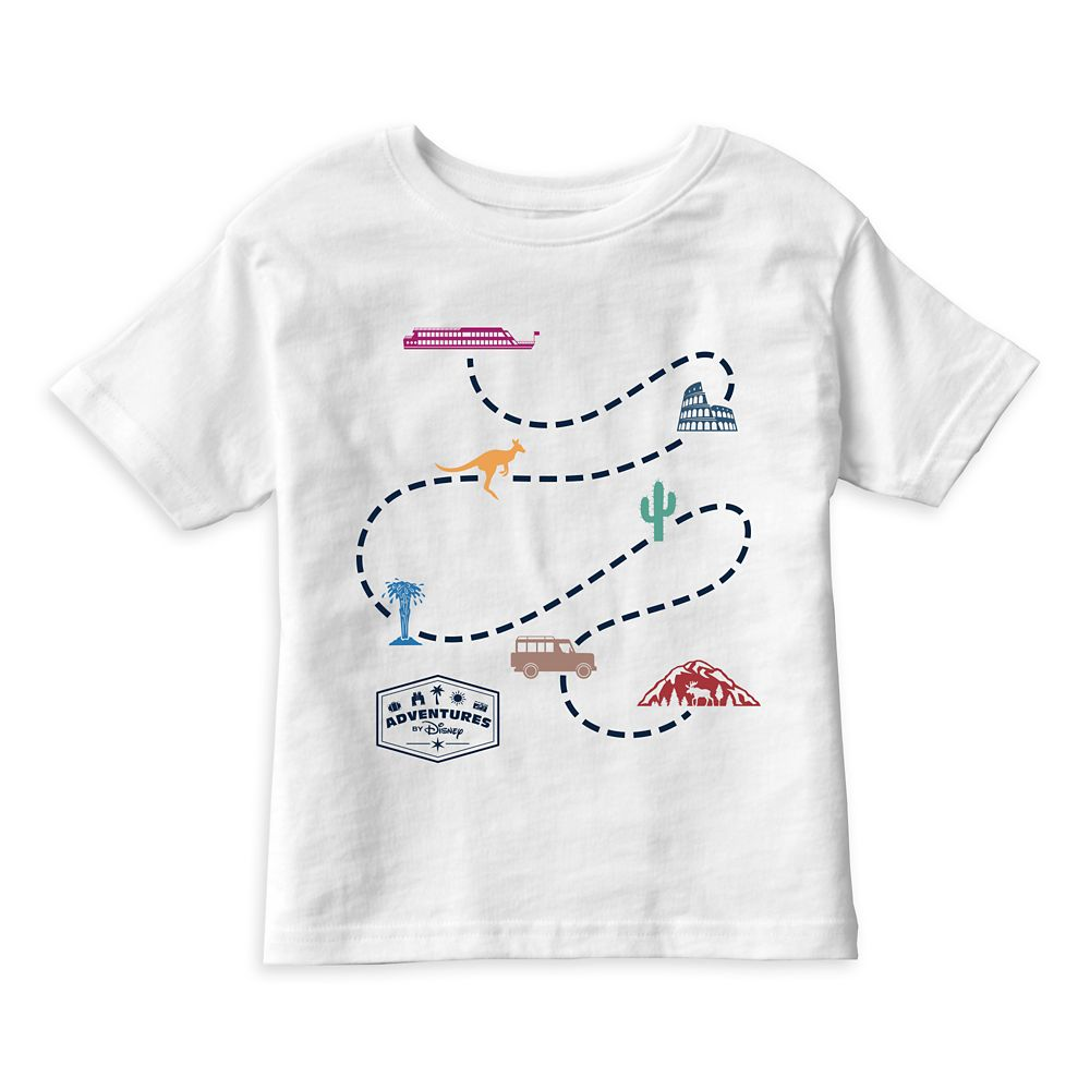 Adventures by Disney Map T-Shirt for Kids  Customizable