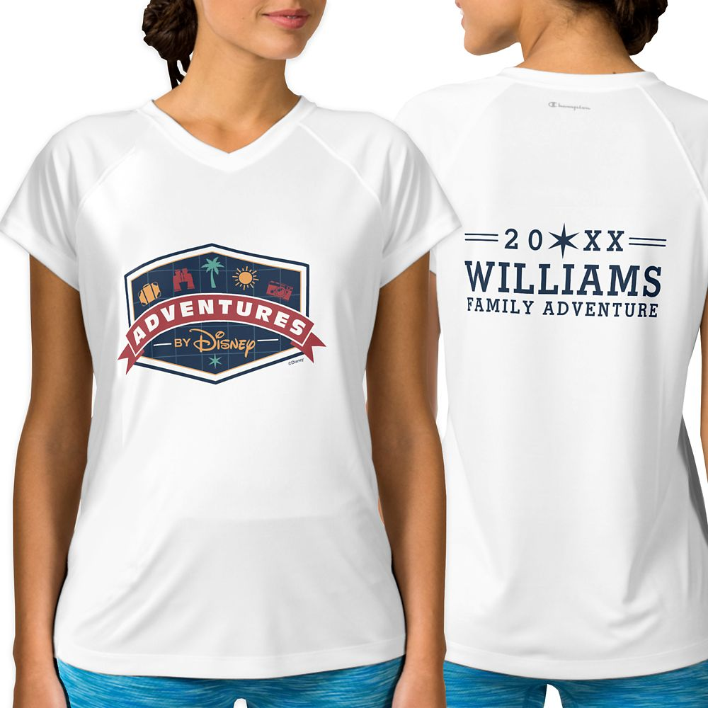Adventures by Disney Badge Performance T-Shirt for Women  Customizable