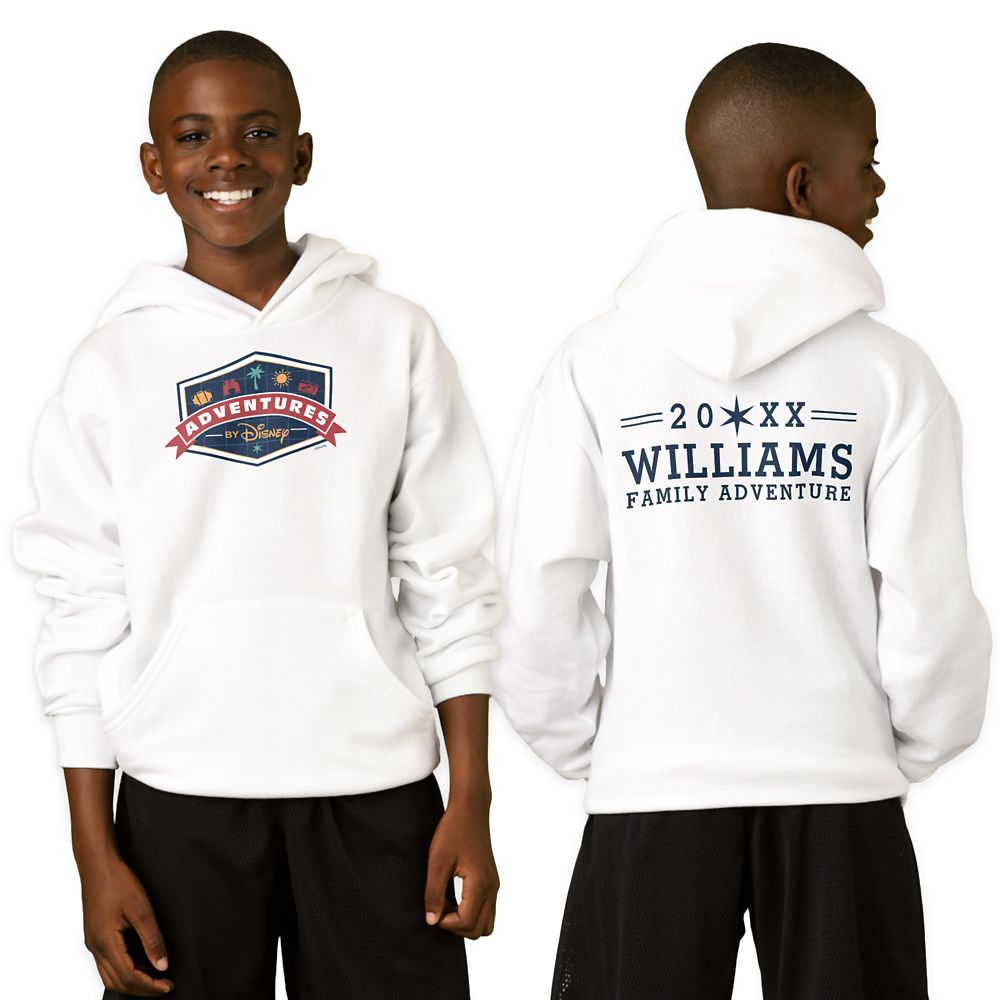 Adventures by Disney Badge Pullover Hoodie for Kids – Customizable