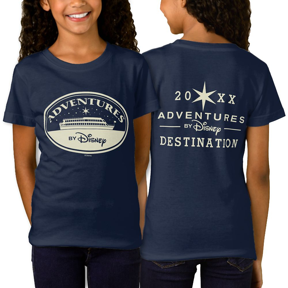 Adventures by Disney Boat Badge T-Shirt for Girls  Customizable