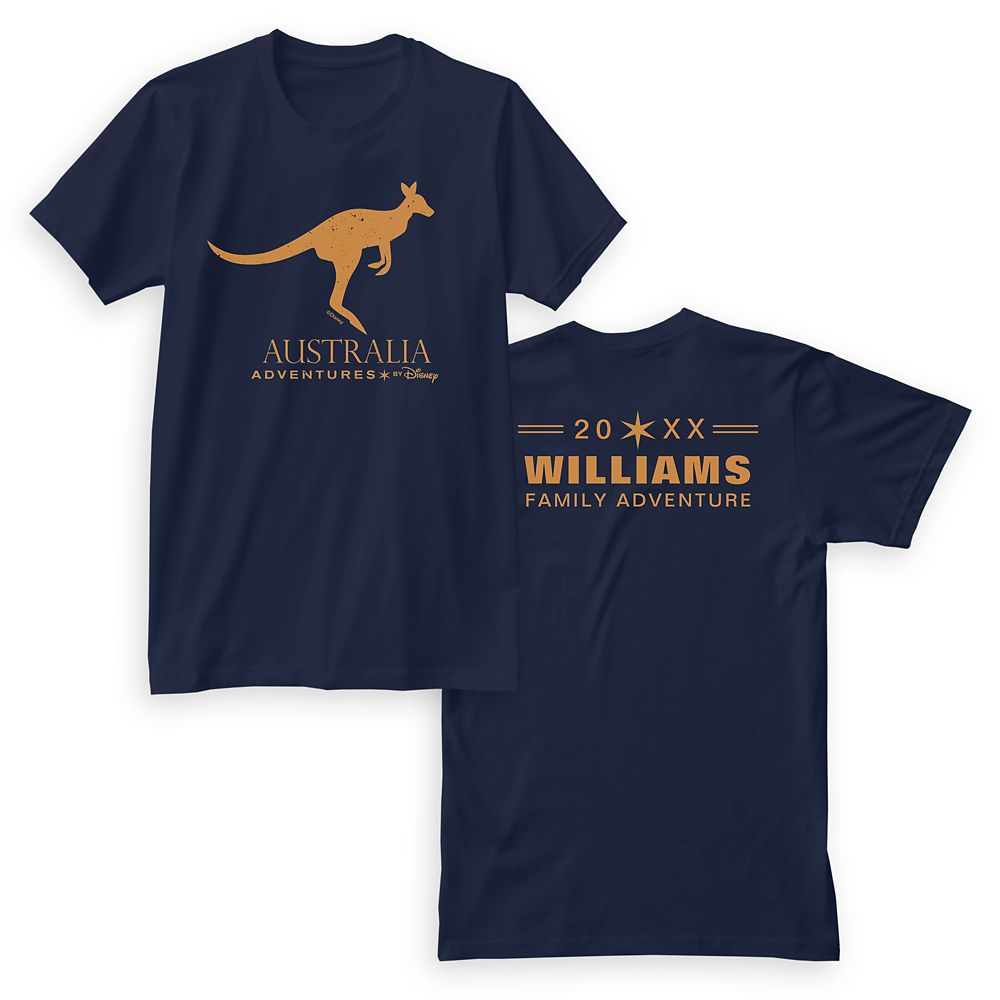 Adventures by Disney Australia Kangaroo T-Shirt for Men  Customizable
