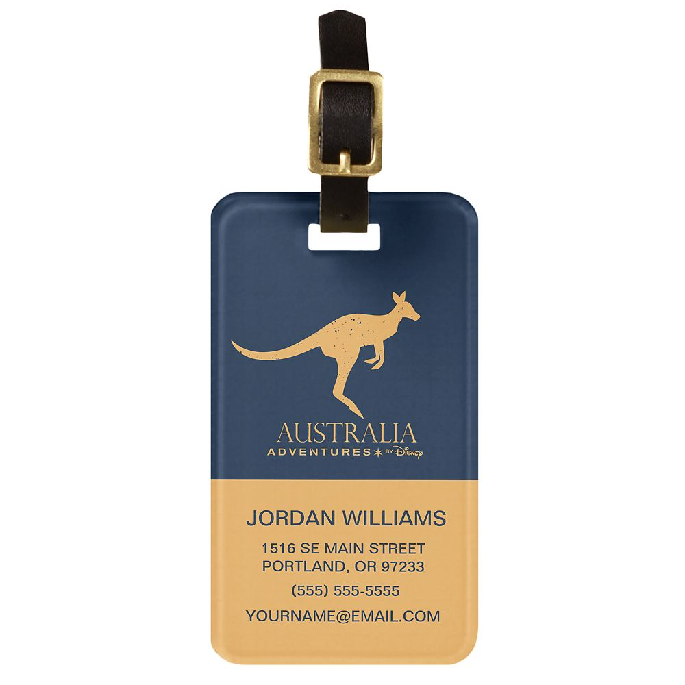 Adventures by Disney Australia Kangaroo Luggage Tag – Customizable