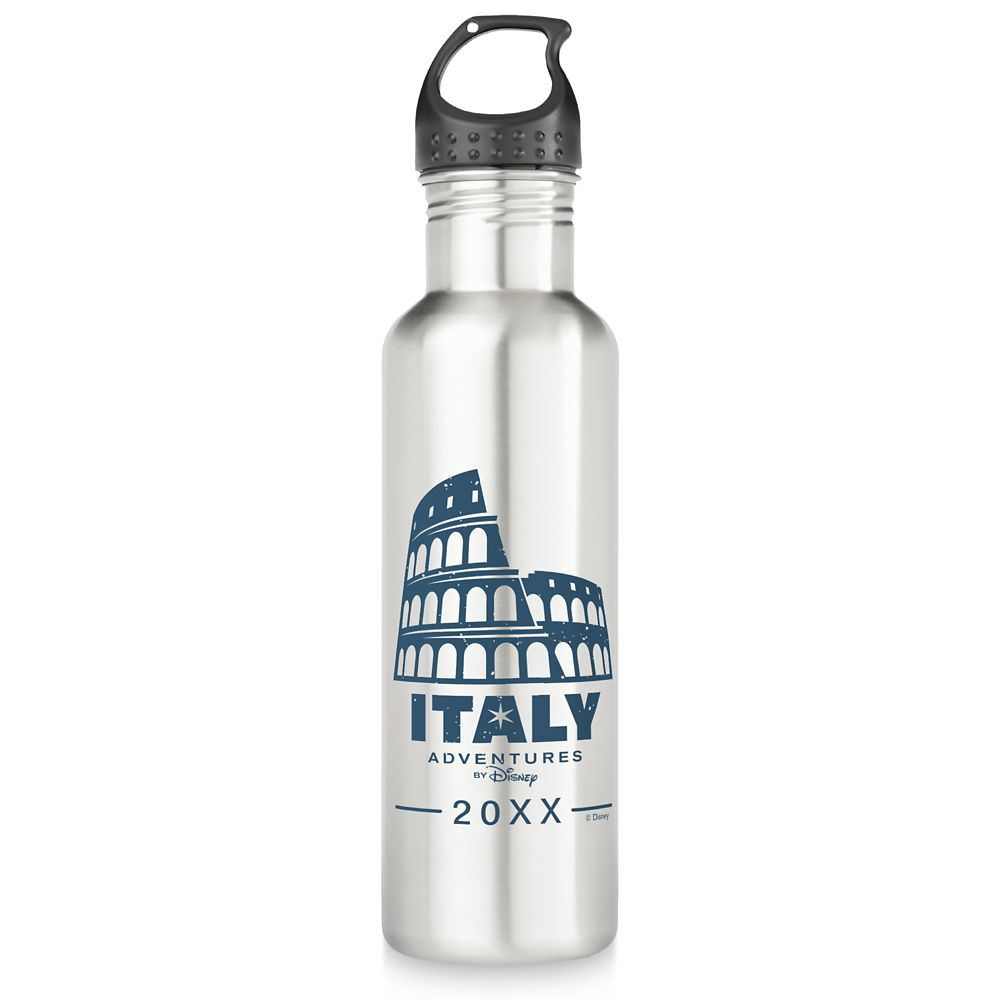Adventures by Disney Italy Stainless Steel Water Bottle  Customizable