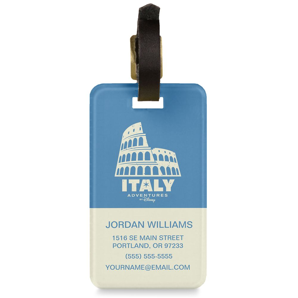 Adventures by Disney Italy Luggage Tag  Customizable