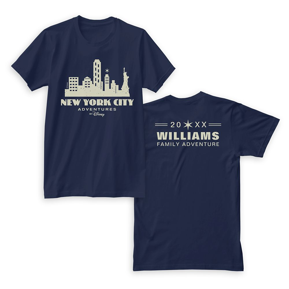 Adventures by Disney New York City T-Shirt for Men  Customizable