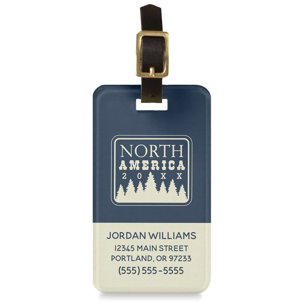 Adventures by Disney North America Family Adventure Luggage Tag  Customizable