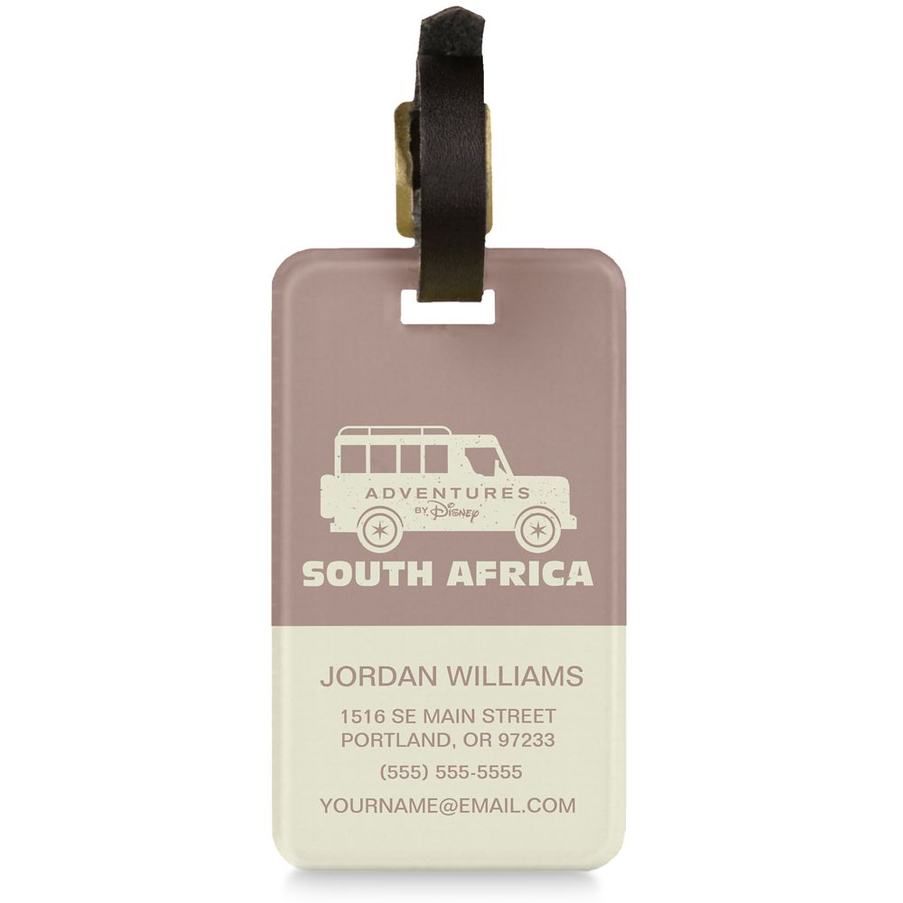 Adventures by Disney South Africa Luggage Tag  Customizable