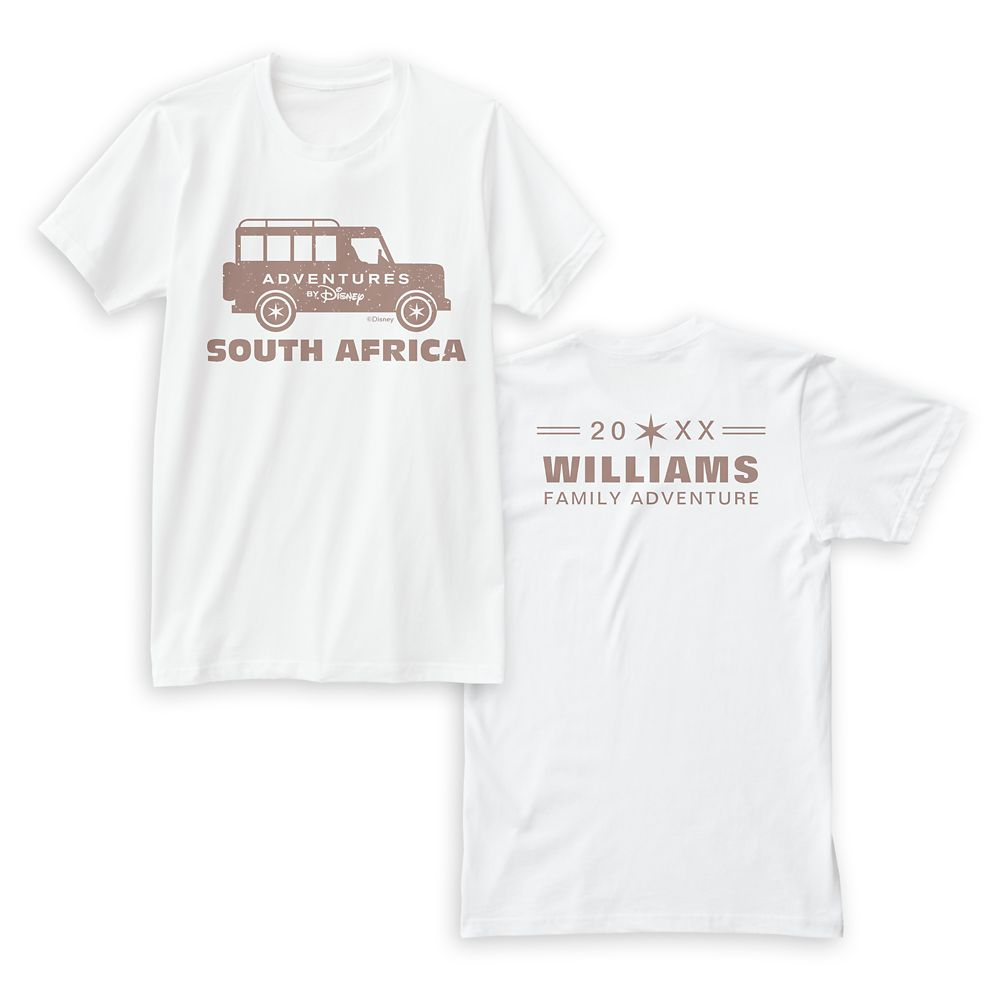 Adventures by Disney South Africa T-Shirt for Women  Customizable