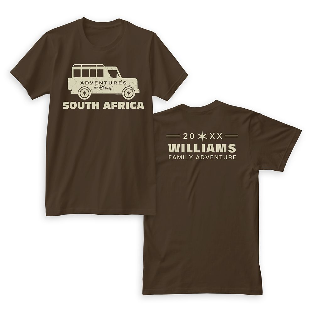 Adventures by Disney South Africa T-Shirt for Men  Customizable