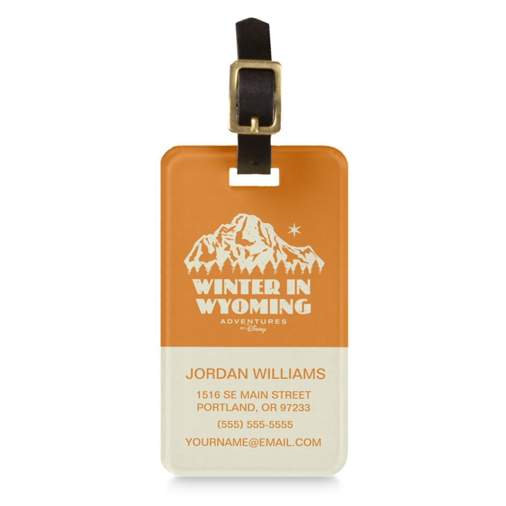 Adventures by Disney Winter in Wyoming Luggage Tag  Customizable
