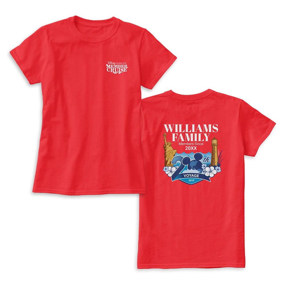 Customized Disney Vacation Club Bermuda Cruise T-Shirt for Women