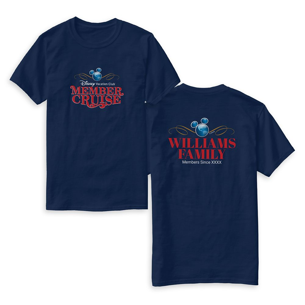 Customized Disney Vacation Club Member Cruise T-Shirt for Family