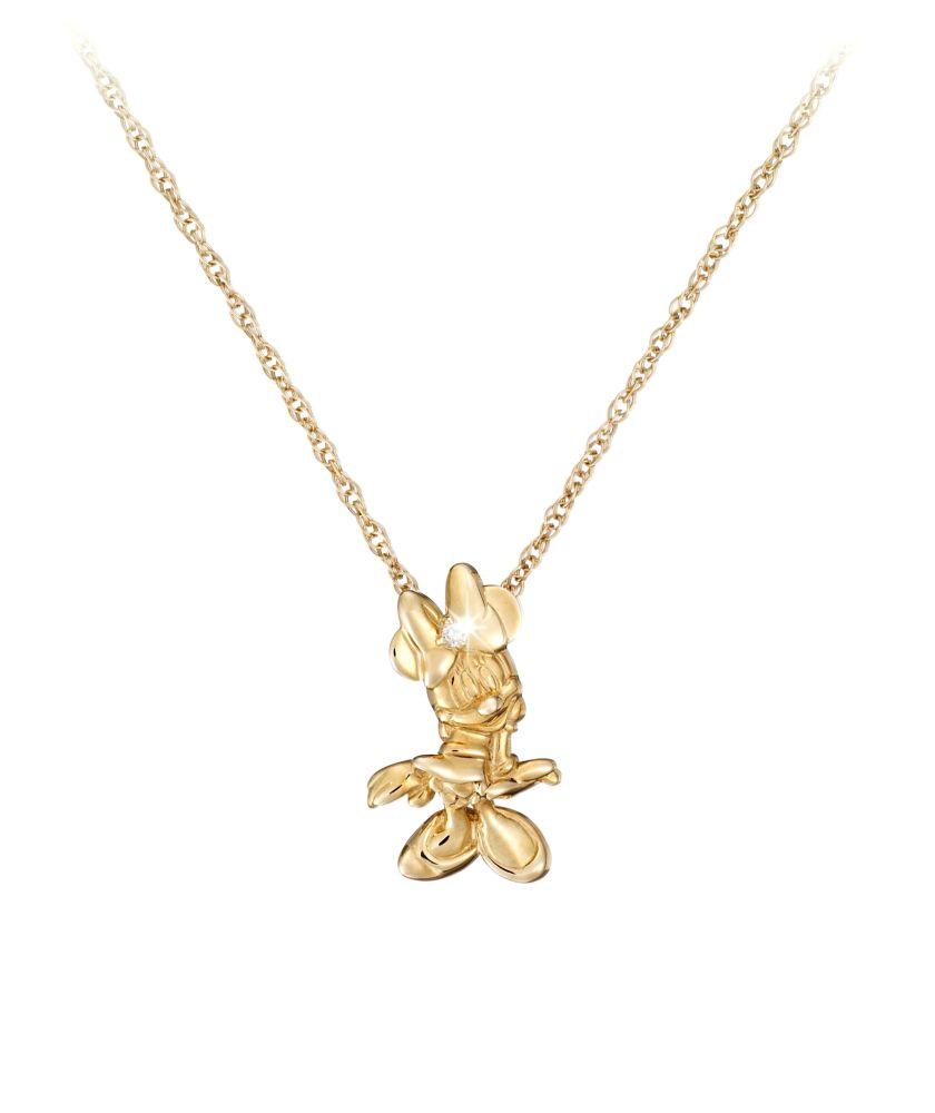 Minnie Mouse Diamond Necklace – 18 Karat