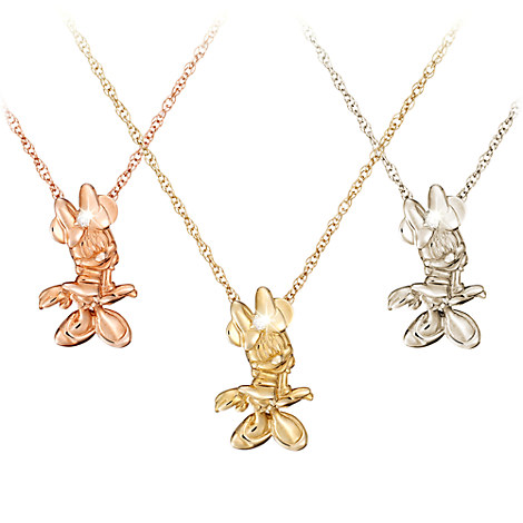 Minnie Mouse Diamond Necklace - 18 Karat