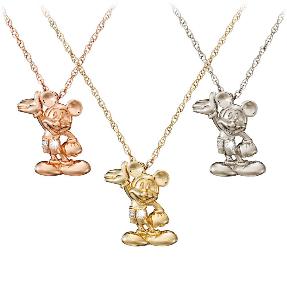 Mickey Mouse Figure Diamond Necklace  18 Karat Official shopDisney