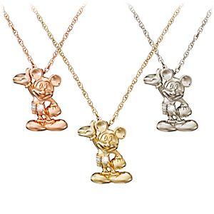 Mickey Mouse Figure Diamond Necklace – 18 Karat