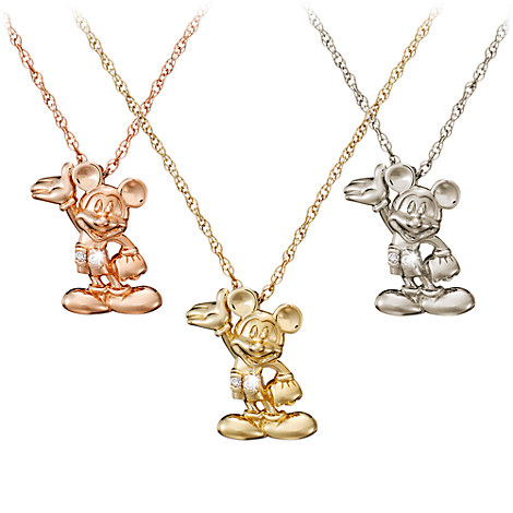 Mickey Mouse Figure Diamond Necklace - 18 Karat