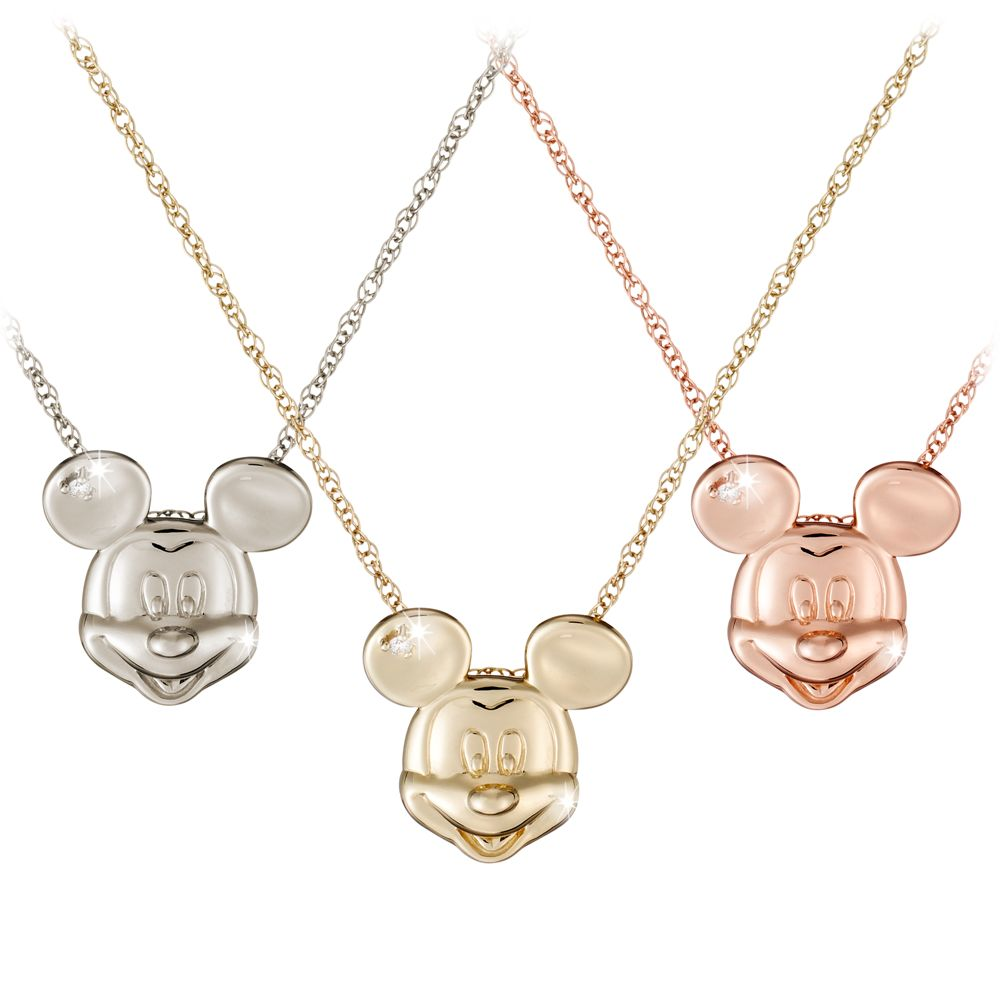 Mickey Mouse Diamond Necklace  18 Karat Official shopDisney