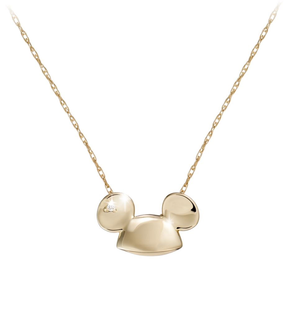 Mickey Mouse Diamond Necklace – 18 Karat Gold – Ear Hat