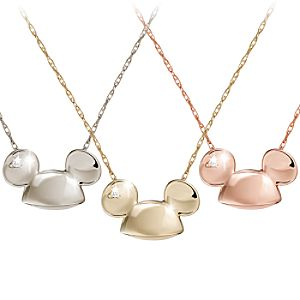 Mickey Mouse Diamond Necklace – 18 Karat Gold – Ear Hat