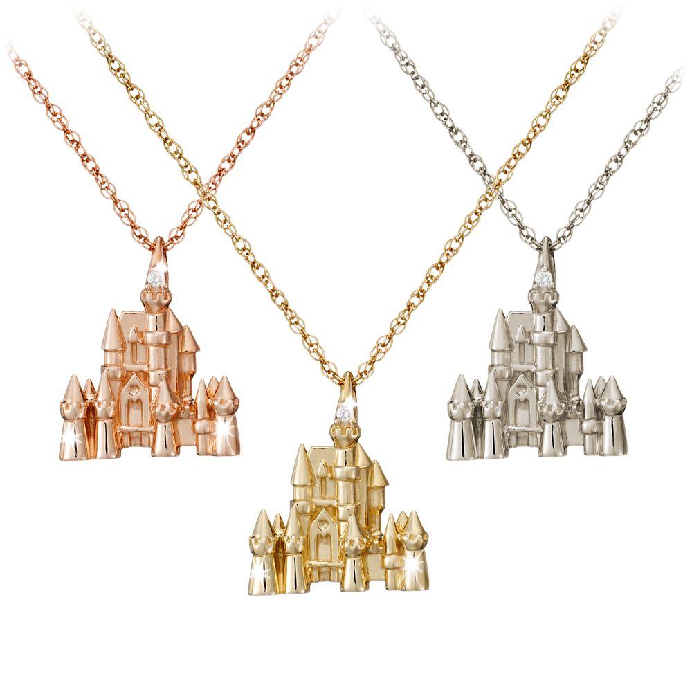 Disney Castle Necklace  Diamond and 14K Gold