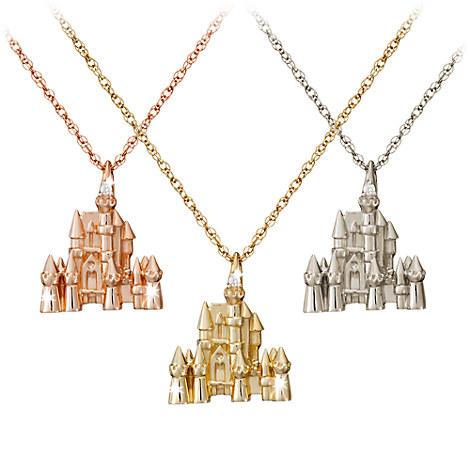 Disney Castle Necklace - Diamond and 14K Gold